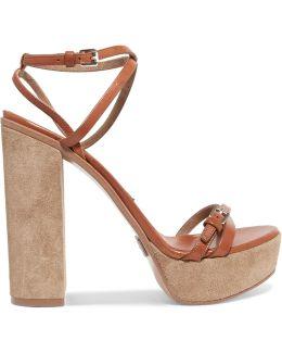 Alma Leather Platform Sandals