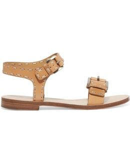 Shari Stitched Leather Sandals