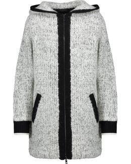 Adele Marled Wool-blend Hooded Coat