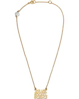 It's Not Rocket Science Gold-tone Necklace