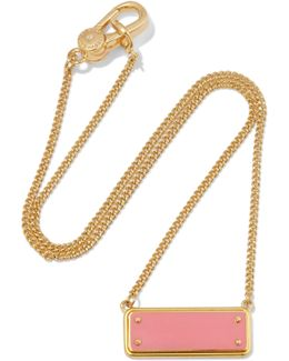 Gold-tone Enamel Necklace
