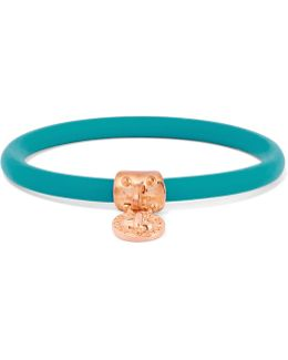 Rubber Rose Gold-tone Bangle