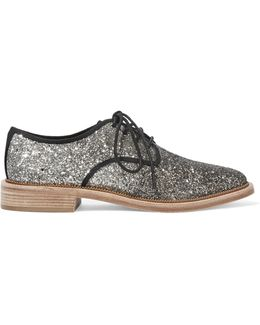 Glittered Canvas Brogues
