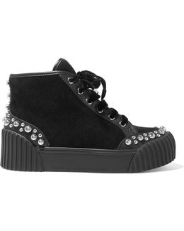 Charlton Studded Suede Platform Sneakers