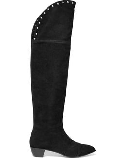 Lula Studded Suede Knee Boots