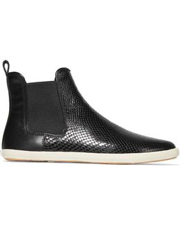 Gracie Chelsea Snake-effect Leather Slip-on Sneakers