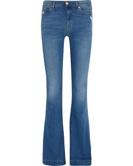 Charlize Mid-rise Distressed Bootcut Jeans