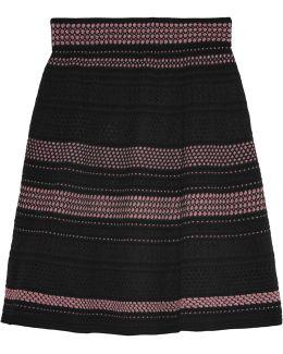 Metallic Knitted Skirt