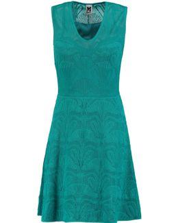 Crochet-knit Mini Dress