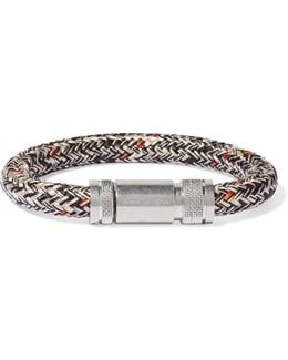 Jack Braided Cord And Silver-tone Bracelet