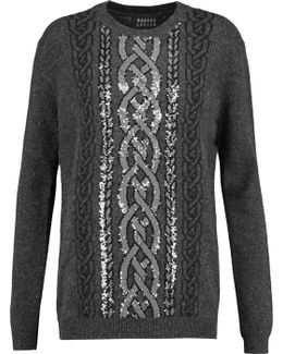 Natalie Sequined Intarsia-knit Wool Jumper