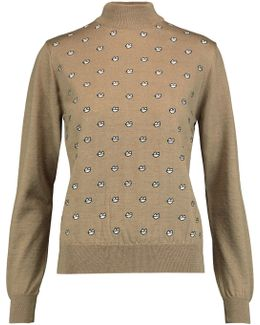 Grace Embroidered Wool Sweater