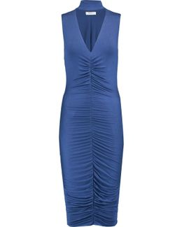 Ruched Stretch-jersey Dress