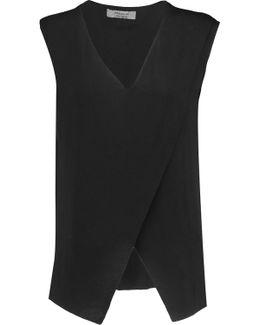 Layered Stretch-jersey Top