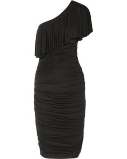 Roomba One-shoulder Ruched Stretch-jersey Dress