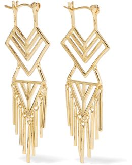 Aztec Gold-tone Earrings