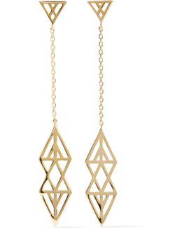 Ikat Gold-tone Earrings