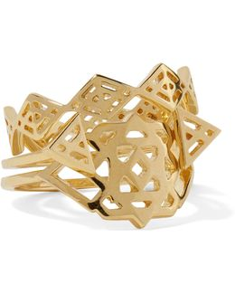 Aztec Set Of Three Gold-tone Rings