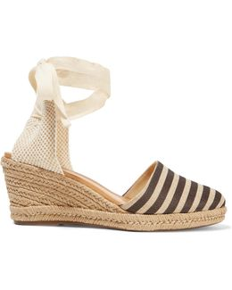 Travina Striped Woven Wedge Espadrille Sandals