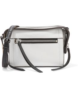 Two-tone Textured-leather Shoulder Bag