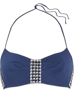 Summer Chain Embellished Halterneck Bikini Top