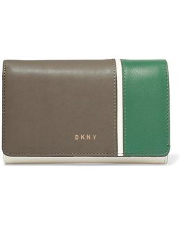 Color-block Leather Wallet