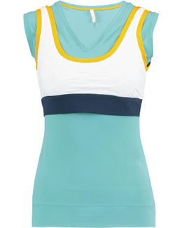 Mala Layered Color-block Stretch-jersey Top