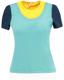 Nana Layered Color-block Stretch-jersey Top