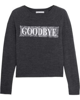 Hello Goodbye Sequined Wool-blend Sweater