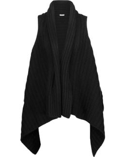 Ena B Ribbed Wool And Yak-blend Vest