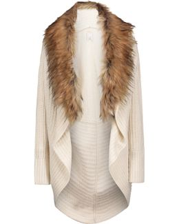 Helma Faux Fur-embellished Wool And Yak-blend Cardigan