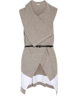 Ligiere Belted Draped Wool Vest