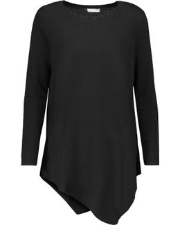 Tambrel Asymmetric Wool And Cashmere-blend Sweater