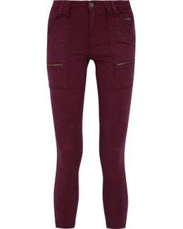Park Cotton-blend Twill Skinny Pants
