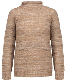 Charis Metallic Marled Stretch-knit Turtleneck Sweater