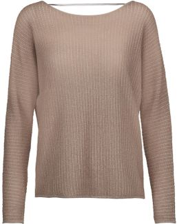 Kerenza Metallic Stretch-knit Sweater