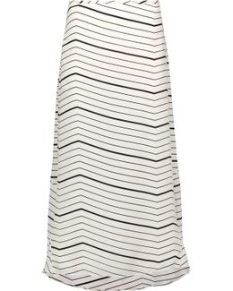 Vivridge Striped Silk-chiffon Midi Skirt