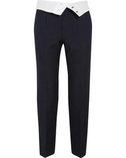 Yoyo Pinstriped Wool-blend Crepe Tapered Pants