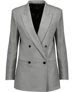 Heather Wool-blend Flannel Blazer