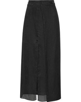 Annie Silk-jacquard Wrap Maxi Skirt