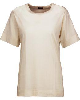 Slub Wool-jersey T-shirt