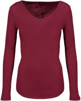Ribbed Cotton And Cashmere-blend Top