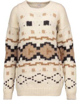 Intarsia-knit Alpaca Sweater