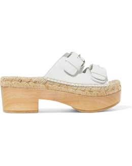 Francisca Leather Espadrille Mules
