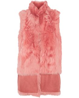 Faux Fur And Suede Gilet