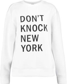 Printed Neoprene Sweatshirt