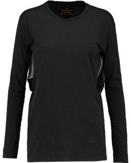 Cutout Cotton-jersey Top