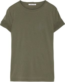 Distressed Slub Cotton And Cashmere-blend Jersey T-shirt