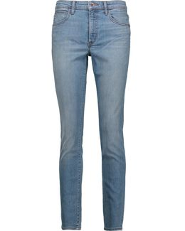 Mid-rise Faded Skinny Jeans