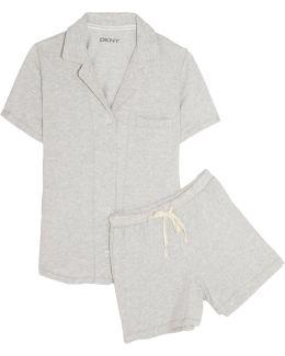Stretch-pima Cotton Pajama Set
